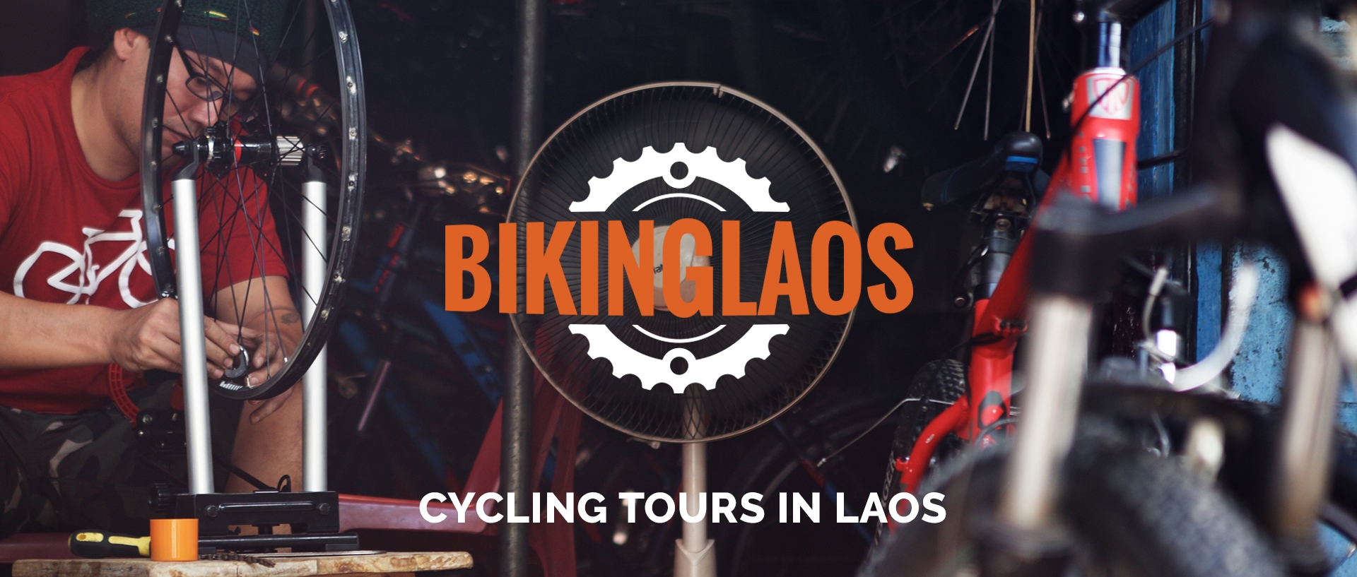 Biking Laos