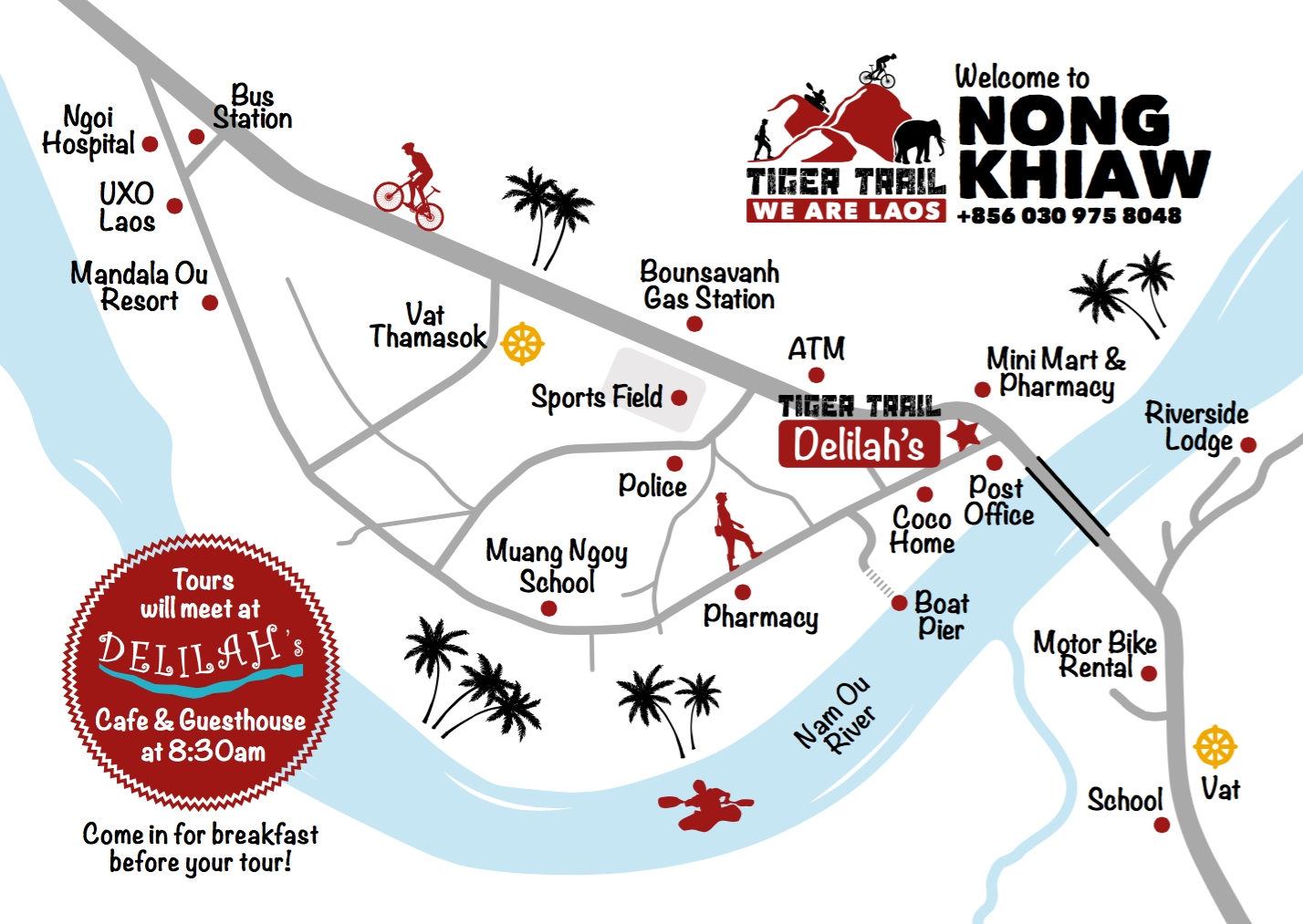Map of Nong Khiaw