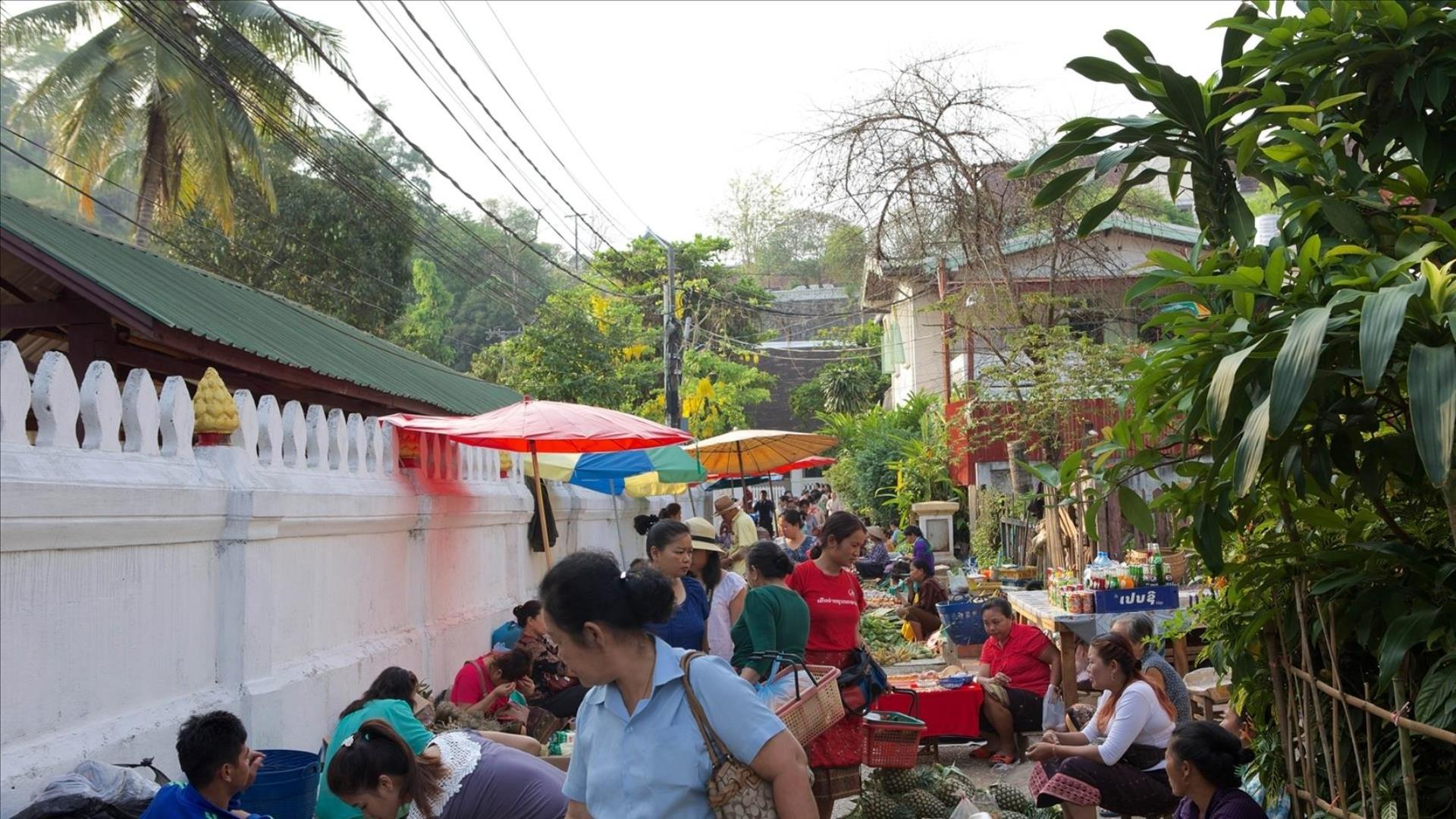 Laos, Luang Prabang: Local Market Tour - 40 mins | Virtual Tour
