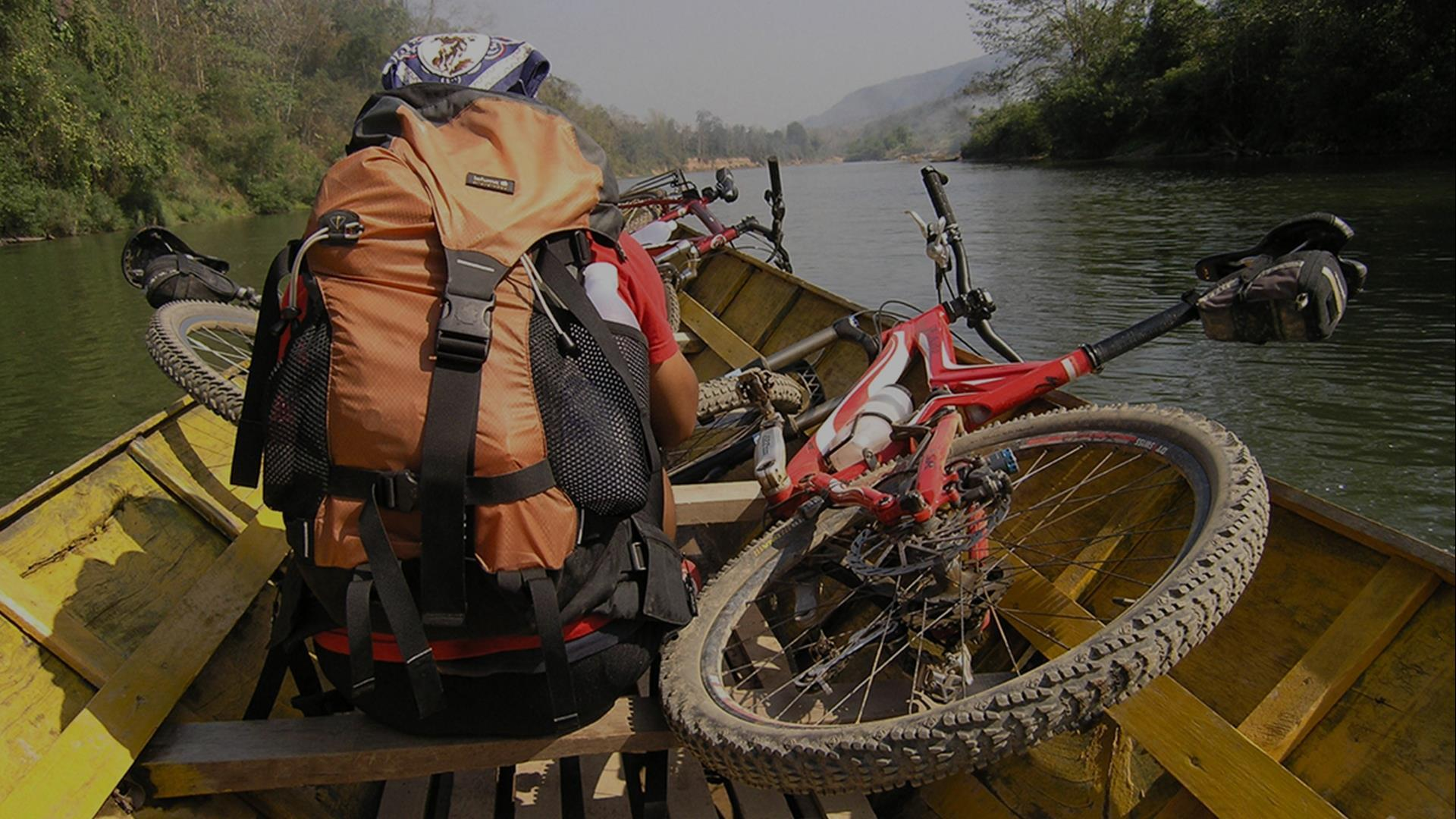 Laos, Luang Prabang : Get Out of Town Mountain Bike Day Ride  - 1 Day | Mixed On/Off Road, Village & Tad Sae Waterfall Explorer