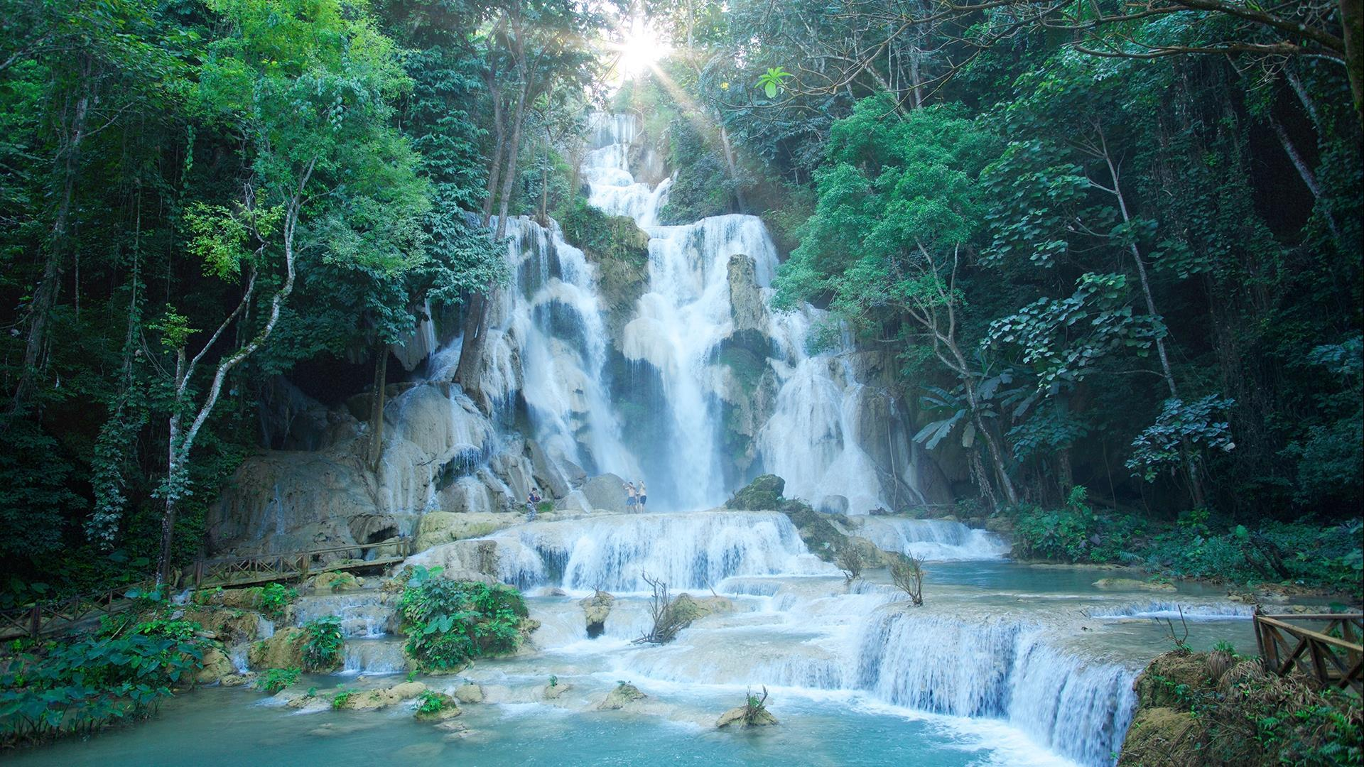 Laos, Luang Prabang : Luang Prabang City & Kuang Si Waterfall Day Tour - 1 Day | See the Best of the City and Cool Off at the Falls!