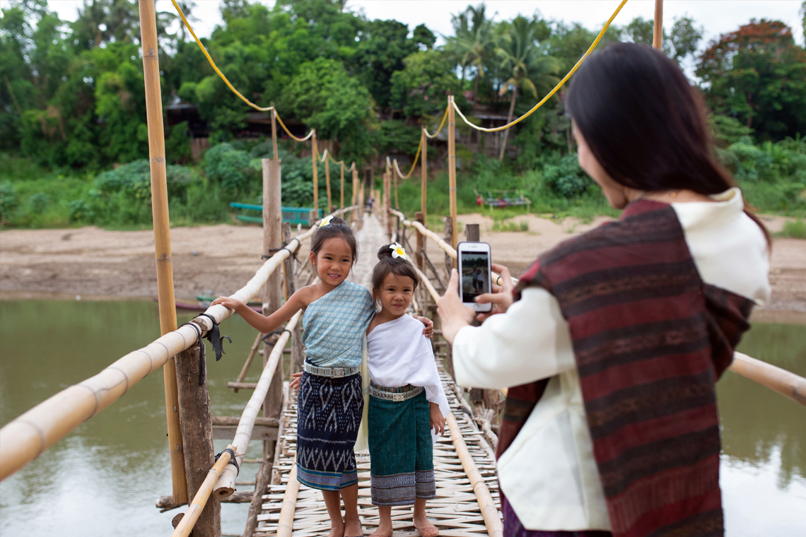 Lao Sinh traditional Dress Bamboo Bridge
