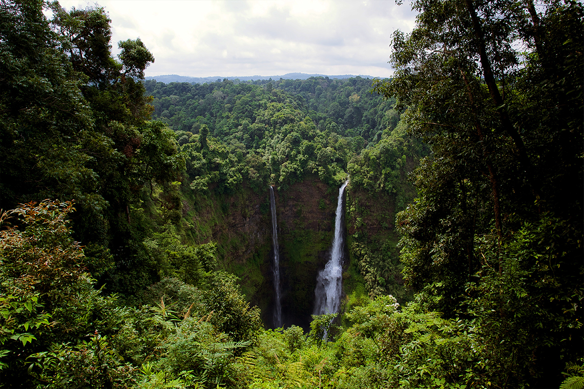 Tad Fan & Tad Lo Twin Waterfall - Bolaven Plateau
