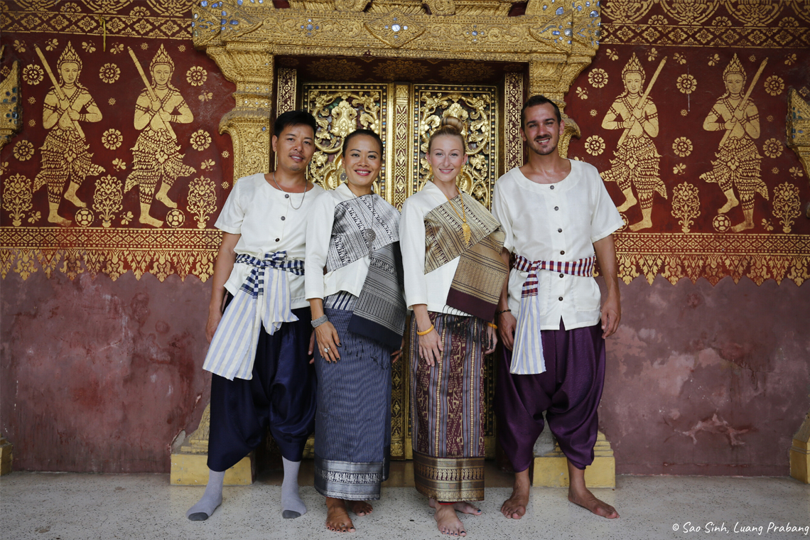 Lao Sinh Clothing at Temple