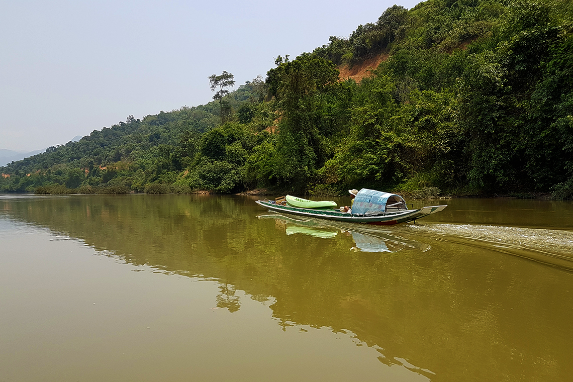 Upstream on the Nam Ou river