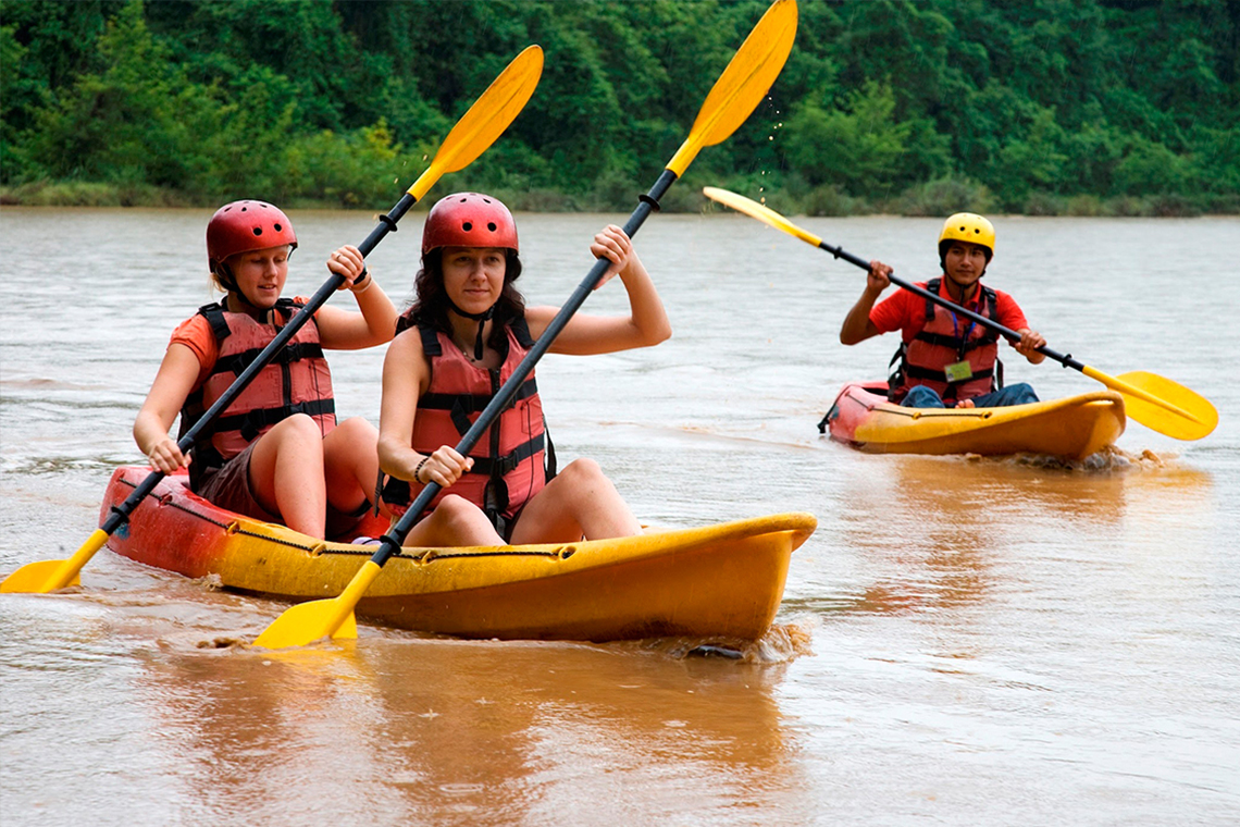 Kayaking on the Nam Ou river