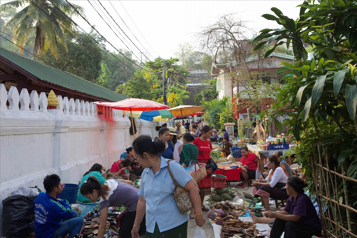 Luang Prabang morning market, Laos.