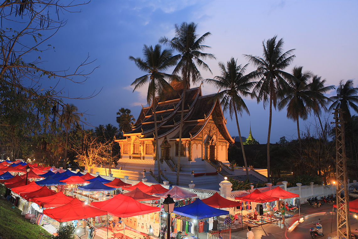 The night market of Luang Prabang