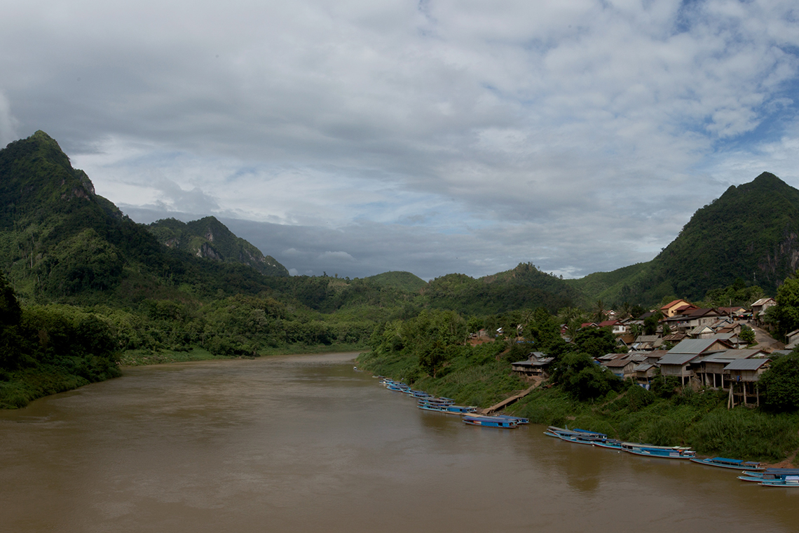 Nong Kiaw - Panorama from Bridge