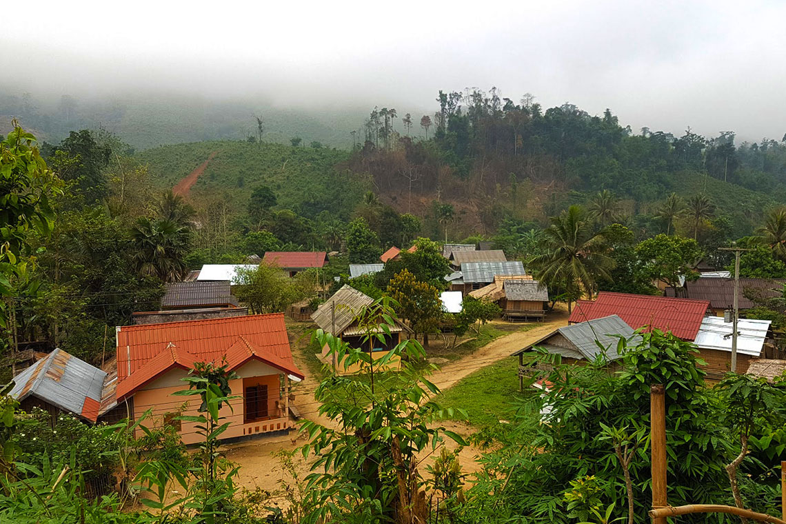 Looking over part of village from hill