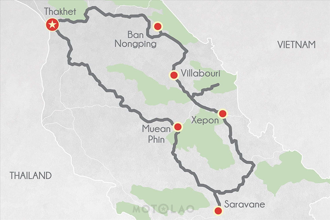 3 The Ho Chi Minh Trail Tour Map